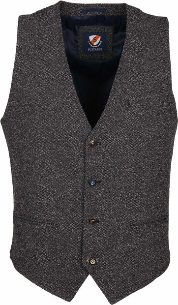 Suitable Waistcoast Boucle Dark Grey