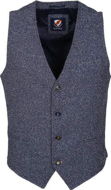 Suitable Waistcoast Boucle Navy