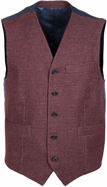 Suitable Waistcoat Marzo Bordeaux