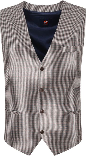 Suitable Waistcoat Muce Flex Camel