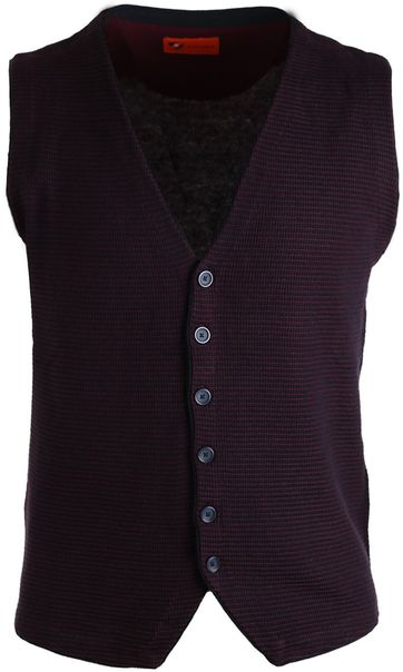 Suitable Waistcoat Navy & Bordeaux