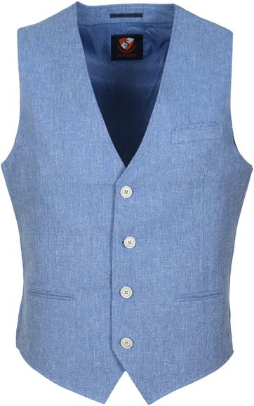 Suitable Waistcoat Opio Blue