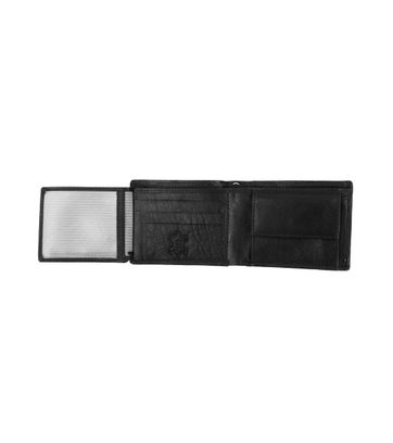 Suitable Wallet Dax Black Leather - Skim Proof