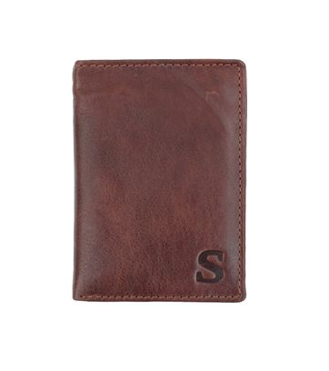 Suitable Wallet Nasdaq Brown Leather - Skim Proof