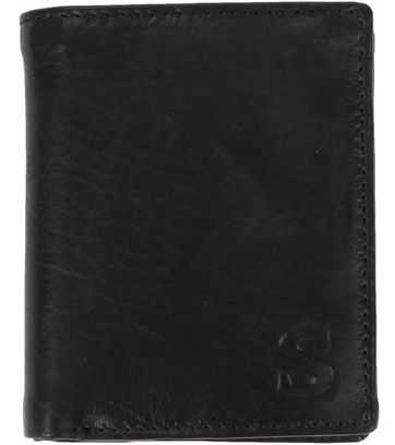 Suitable Wallet Nikkei Black Leather - Skim Proof