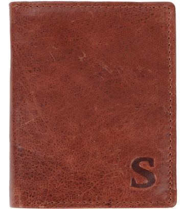 Suitable Wallet Nikkei Brown Leather - Skim Proof