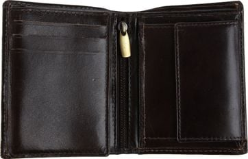Suitable Wallet Nikkei Dark Brown Leather - Skim Proof