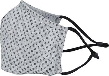 Suitable Waschbar Gesichtsmaske Print Grau