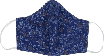 Suitable Washable Mouth Mask Flowers Navy