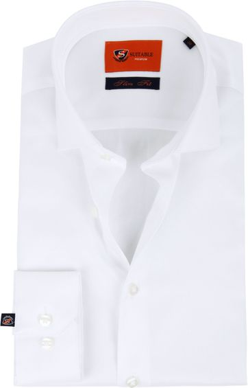 Suitable Weiß Hemd Slim Fit DR-01