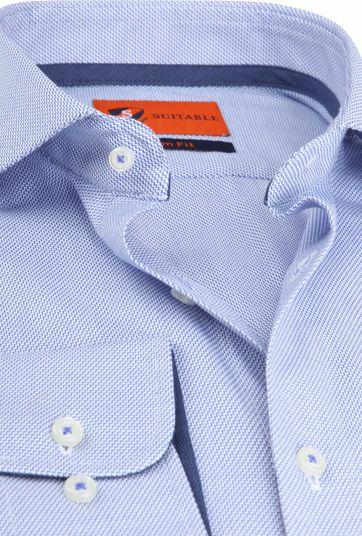 Suitable Wesley Overhemd Dessin Blauw