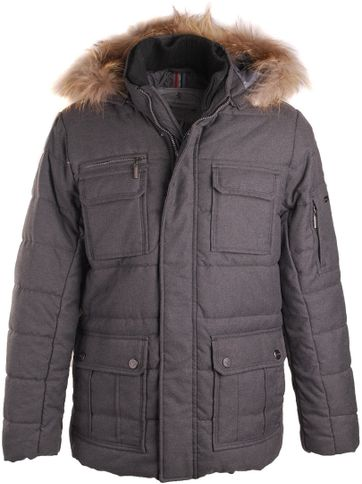 Suitable Winterjacke Parka Flannel Antrazit