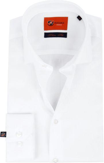 Slim Fit Wit Overhemd.Suitable Wit Overhemd Slim Fit Dr 01 Dr 01 Easycare Sf White