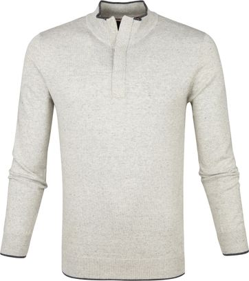 Suitable Yumm Half Zip Pullover Beige