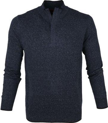 Suitable Yumm Half Zip Pullover Blau