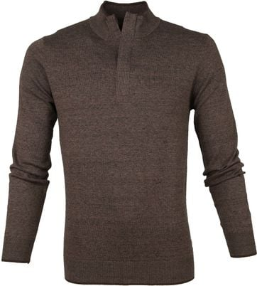Suitable Yumm Half Zip Pullover Brown