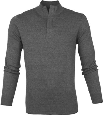 Suitable Yumm Half Zip Pullover Grey