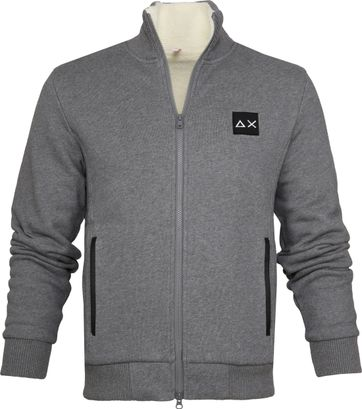 Sun68 Cardigan Quilted Grey