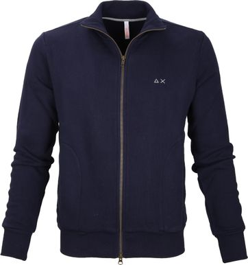 Sun68 Cardigan Zipper Navy