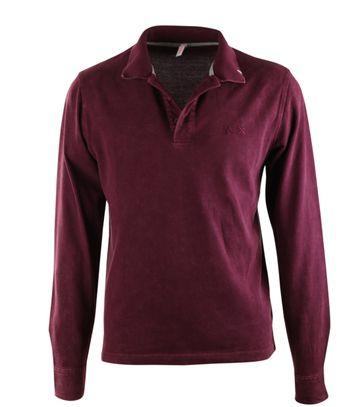 Sun68 LS Poloshirt Vintage Bordeaux