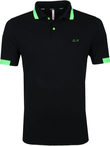 Sun68 Polo Big Stripe Zwart