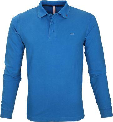 Sun68 Polo Longsleeve Vintage Blauw