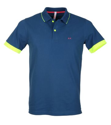 Sun68 Polo Neon Blauw