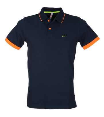 Sun68 Polo Neon Navy Oranje