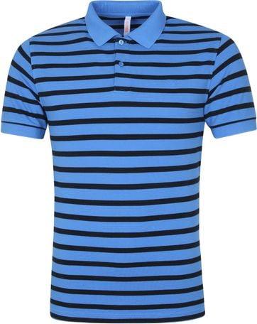 Sun68 Polo Shirt Dye Stripes Blue