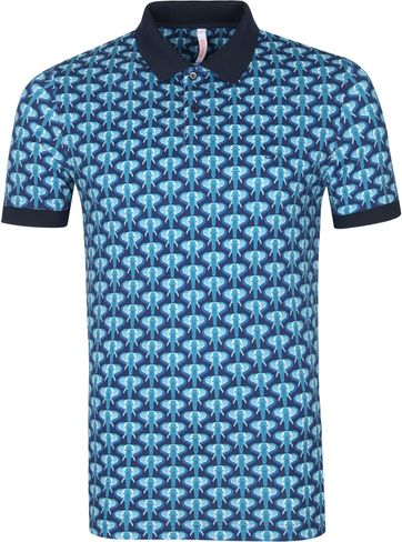Sun68 Polo Shirt Elephant Navy