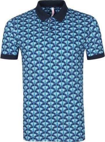 Sun68 Polo Shirt Elephant Navy