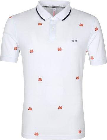 Sun68 Polo Shirt Logo Crab White