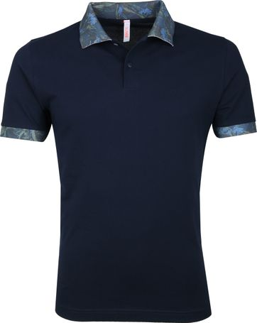 Sun68 Polo Shirt Navy Dessin