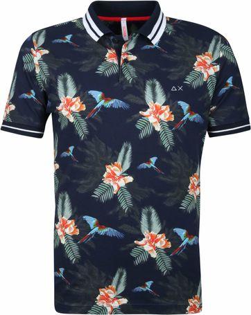 Sun68 Polo Shirt Navy Print