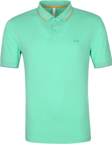 Sun68 Polo Shirt Small Stripes Green