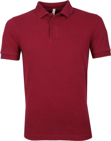 Sun68 Polo Shirt Vintage Bordeaux