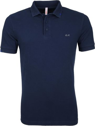 Sun68 Polo Shirt Vintage Dark Blue