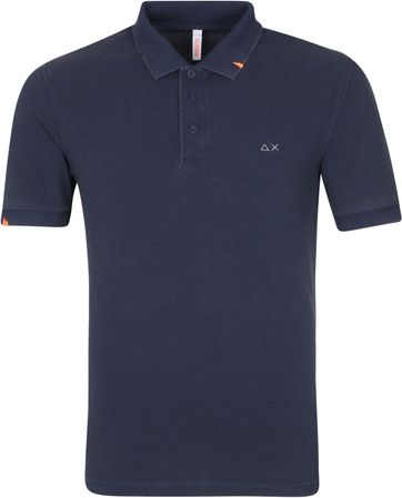 Sun68 Polo Shirt Vintage Solid Navy