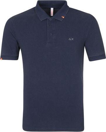 Sun68 Polo Shirt Vintage Solid Navy