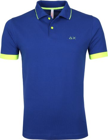 Sun68 Polo Small Stripe Blauw