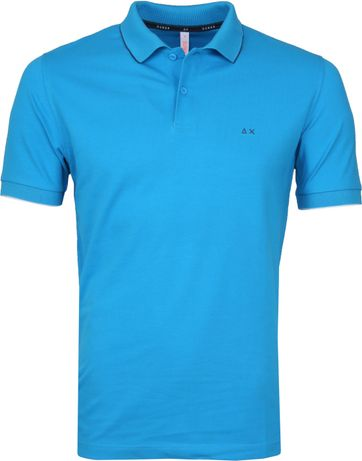 Sun68 Polo Small Stripe Blue SF