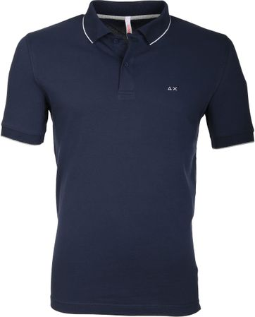 Sun68 Polo Small Stripe Navy