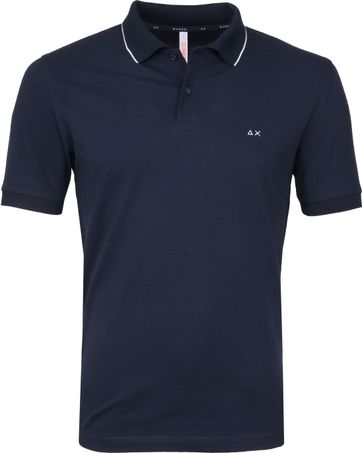 Sun68 Polo Small Stripe Navy SF