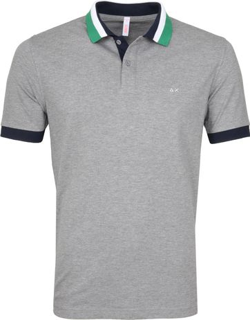 Sun68 Polo Three Collar Grey