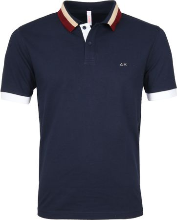 Sun68 Polo Three Collar Navy