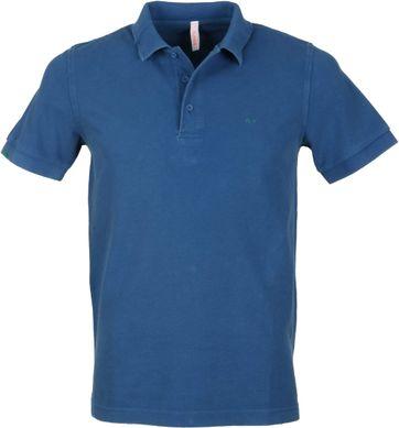 Sun68 Polo Vintage Blauw