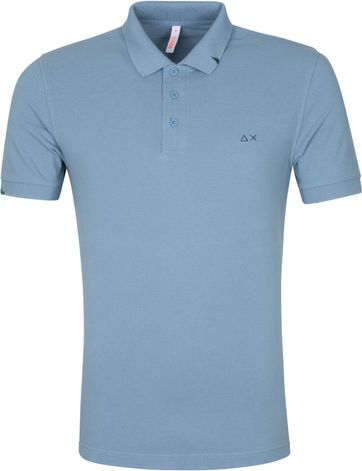 Sun68 Polo Vintage Solid Blauw