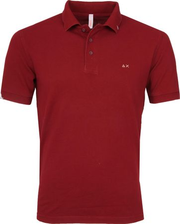 Sun68 Polo Vintage Solid Bordeaux