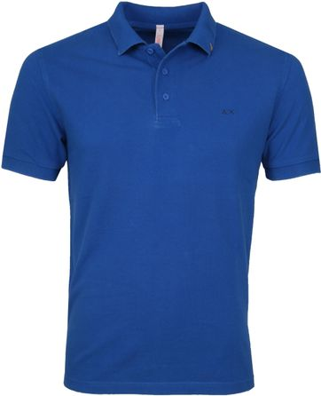 Sun68 Polo Vintage Solid Royal Blue