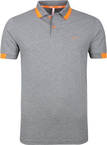 Sun68 Poloshirt Big Stripe Grau